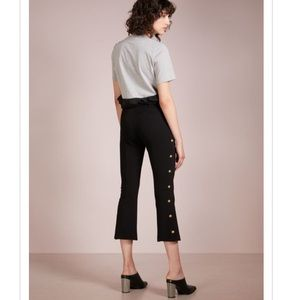 Pinko Megafono Pant w gold buttons down the sides